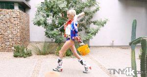 Tiny 4k Piper Perri in Harlequin Halloween 1