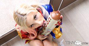 Tiny 4k Piper Perri in Harlequin Halloween 4