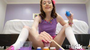 Tiny4k Alice Merchesi in Alice's Messy Paint Party 6